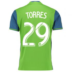Seattle Sounders Home Shirt 2016 with Torres 29 printing