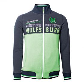 VfL Wolfsburg Track Jacket - Black/Green - Mens