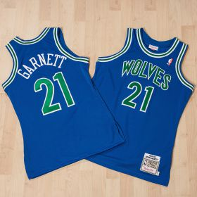 Minnesota Timberwolves Kevin Garnett 1995-96 Road Authentic Jersey By Mitchell & Ness