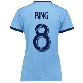 New York City FC Home Shirt 2017-18 - Womens with Ring 8 printing