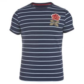 England Rugby 1871 Rose Stripe T-Shirt Navy
