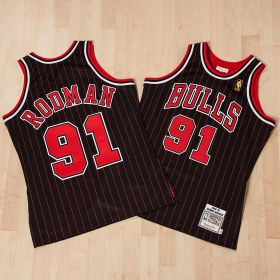 Chicago Bulls Dennis Rodman 1996-97 Alternate Championship Authentic Jersey By Mitchell & Ness