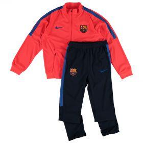 Barcelona Squad Knit Tracksuit - Red - Kids