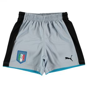 Italy Home Goalkeeper Shorts 2016 - Kids Blue