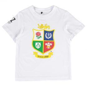 British & Irish Lions NZ 2017 T-Shirt - White - Junior