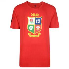 British & Irish Lions NZ 2017 T-Shirt - British Lions Red