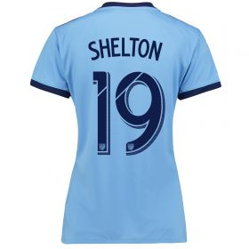 New York City FC Home Shirt 2017-18 - Womens with Shelton 19 printing