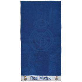 Real Madrid Crest Towel - Blue - 80 x 160cm