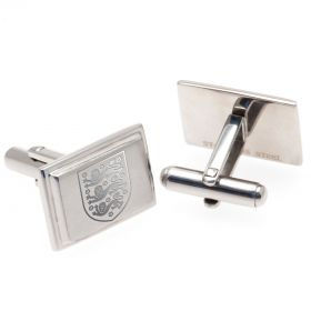 England Rectangle Crest Cufflinks - Stainless Steel