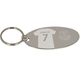 Everton Personalised Oval Keyring