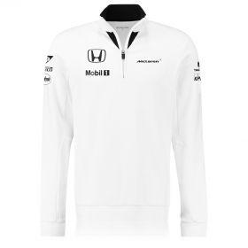 McLaren Honda Official Team 1/4 Zip Sweatshirt Female White