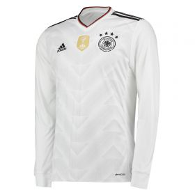 Germany Confederations Cup Home Shirt 2017 - Long Sleeve with Hummels 5 printing
