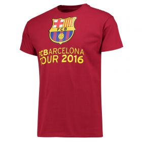 Barcelona 2016 Tour T-Shirt - Mens - Cardinal Red
