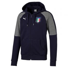 Italy Tribute 2006 Zip Through Hoody - Navy - Grey