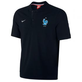 France Authentic Grand Slam Polo - Black