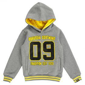 BVB Large Crest Hoodie - Grey - Junior