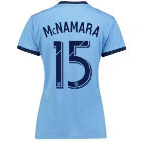 New York City FC Home Shirt 2017-18 - Womens with McNamara 15 printing
