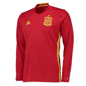 Spain Home Shirt 2016 - Long Sleeve Red
