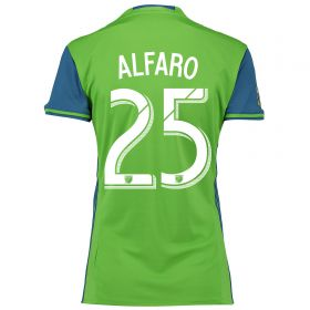 Seattle Sounders Home Shirt 2016 - Womens with Alfaro 25 printing