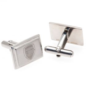 Arsenal Rectangle Crest Cufflinks - Stainless Steel