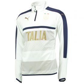 Italy Tribute 2006 1/4 Zip Training Top - White