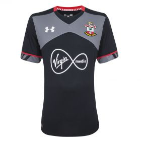 Southampton Away Shirt 2016-17 - Kids Black with Boufal 19 printing