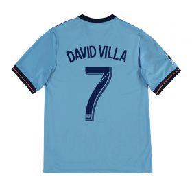 New York City FC Home Shirt 2017-18 - Kids with David Villa 7 printing