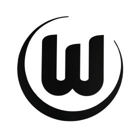 VfL Wolfsburg Logo Sticker - Black - 8cm