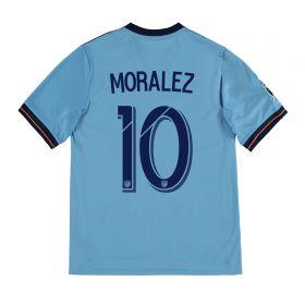 New York City FC Home Shirt 2017-18 - Kids with Moralez 10 printing