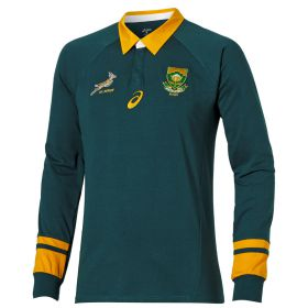 South Africa Springboks Rugby 2015 Classic Fan Long Sleeve Jersey Green