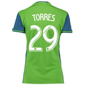 Seattle Sounders Home Shirt 2016 - Womens with Torres 29 printing