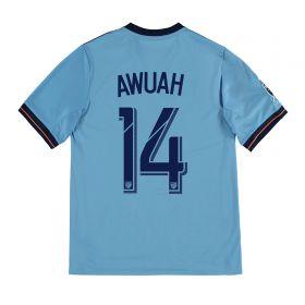 New York City FC Home Shirt 2017-18 - Kids with Awuah 14 printing