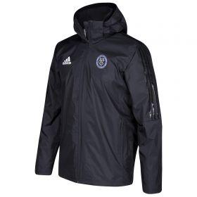 New York City FC Coaches Jacket - Black
