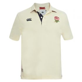 England Rugby Since 1871 Plain Rugby Polo - Bone