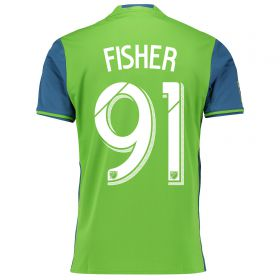 Seattle Sounders Home Shirt 2016 with Fisher 91 printing