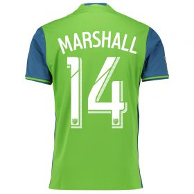 Seattle Sounders Home Shirt 2016 with Marshall 14 printing