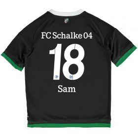 Schalke 04 Third Shirt 2015-17 - Kids Grey with Sam 18 printing