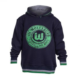 VfL Wolfsburg Distressed Graphic Hoodie - Black - Boys