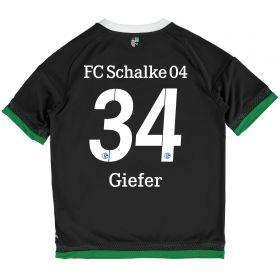 Schalke 04 Third Shirt 2015-17 - Kids Grey with Giefer 34 printing