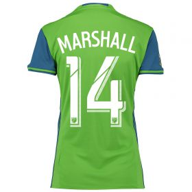 Seattle Sounders Home Shirt 2016 - Womens with Marshall 14 printing