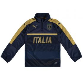 Italy Tribute 2006 1/4 Zip Training Top - Navy - Kids