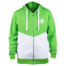 VfL Wolfsburg Shower Jacket - Green/White - Mens