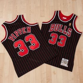 Chicago Bulls Scottie Pippen 1996-97 Alternate Championship Authentic Jersey By Mitchell & Ness