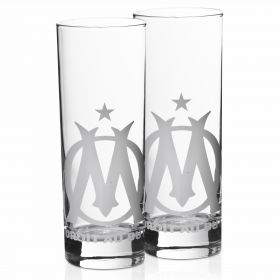Olympique de Marseille Set of Two Water Glasses