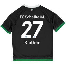 Schalke 04 Third Shirt 2015-17 - Kids Grey with Riether 27 printing