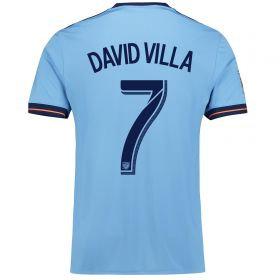 New York City FC Home Shirt 2017-18 with David Villa 7 printing
