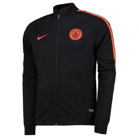 Manchester City Squad Knit Track Jacket - Black
