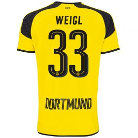 BVB International Home Shirt 2016-17 - Outsize with Weigl 33 printing