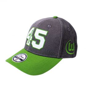 VfL Wolfsburg 45 Cap - Black/Green - Adult