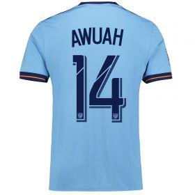 New York City FC Home Shirt 2017-18 with Awuah 14 printing